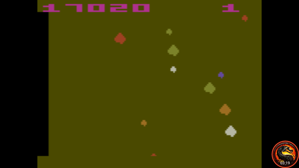 omargeddon: Asteroids: Game 16 (Atari 2600 Emulated Expert/A Mode) 17,020 points on 2020-10-11 19:02:19