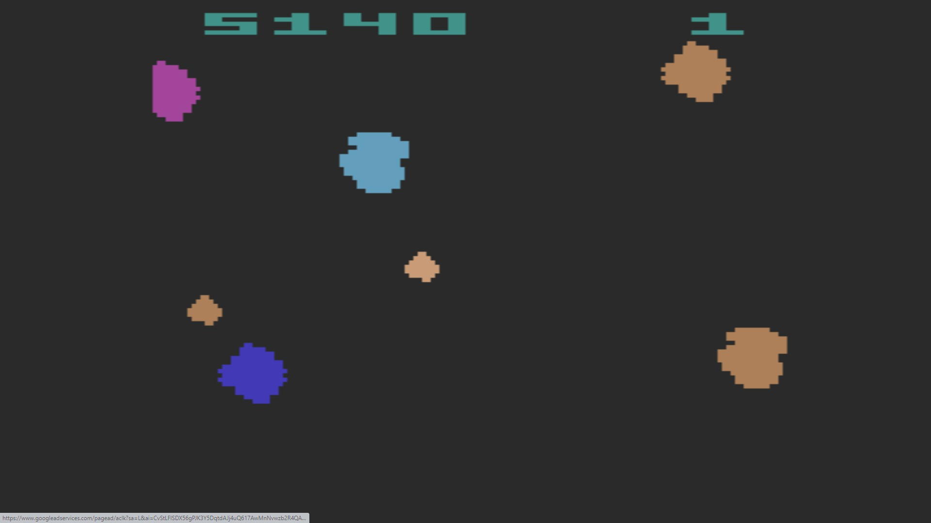 Asteroids: Game 3 5,140 points