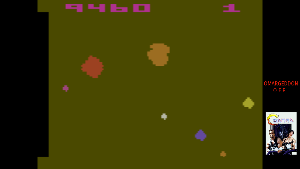 omargeddon: Asteroids: Game 32 (Atari 2600 Emulated Expert/A Mode) 9,460 points on 2017-08-05 10:10:11