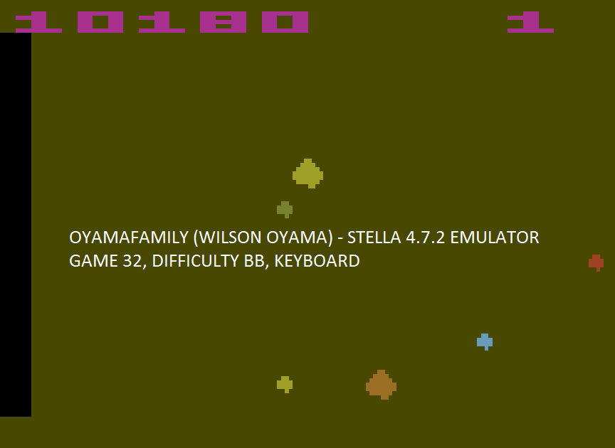 oyamafamily: Asteroids: Game 32 (Atari 2600 Emulated Novice/B Mode) 10,180 points on 2017-04-16 18:20:06