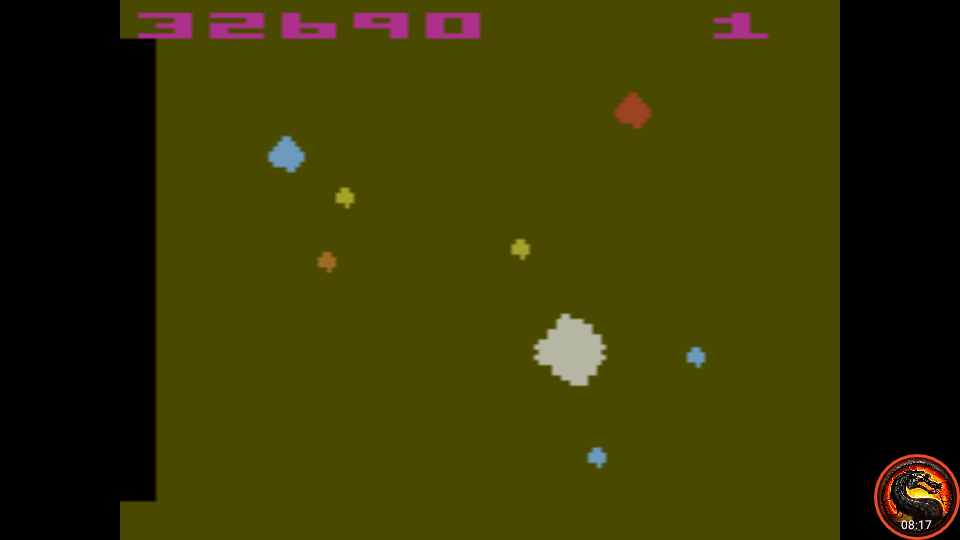 omargeddon: Asteroids: Game 4 (Atari 2600 Emulated Novice/B Mode) 32,690 points on 2020-08-22 00:00:25