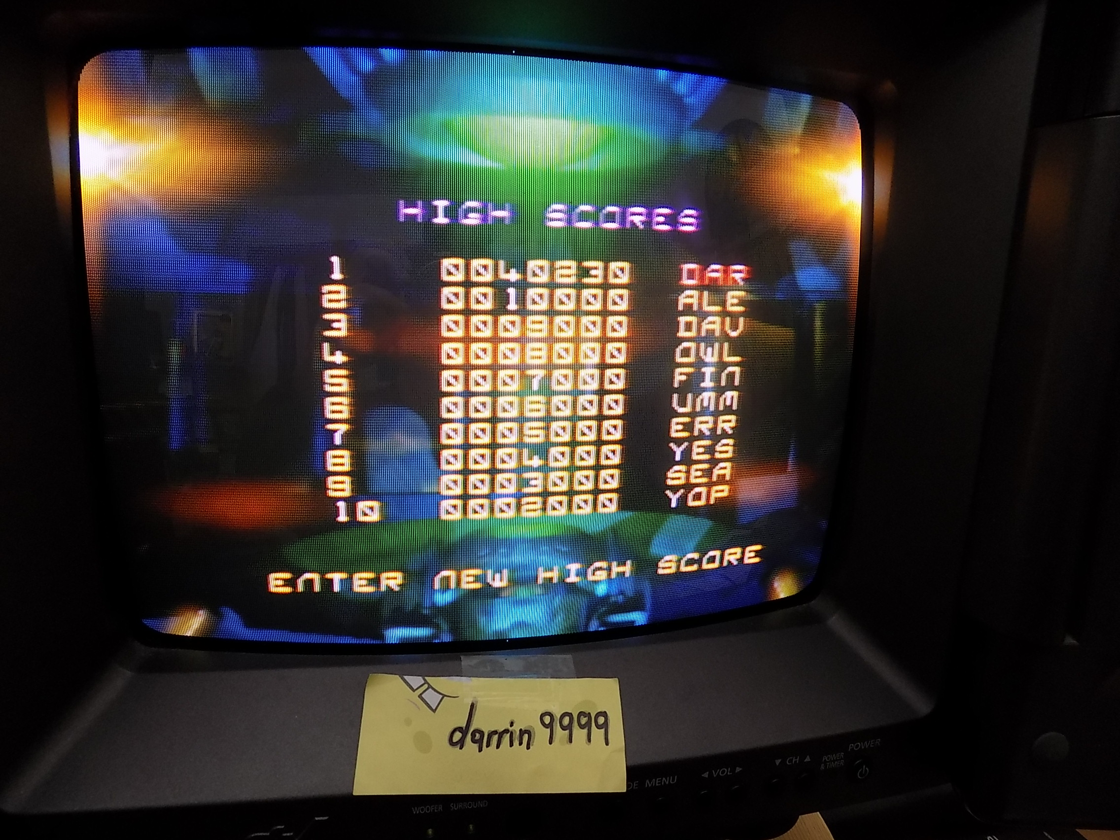 Asteroids Hyper 64: Normal 40,230 points
