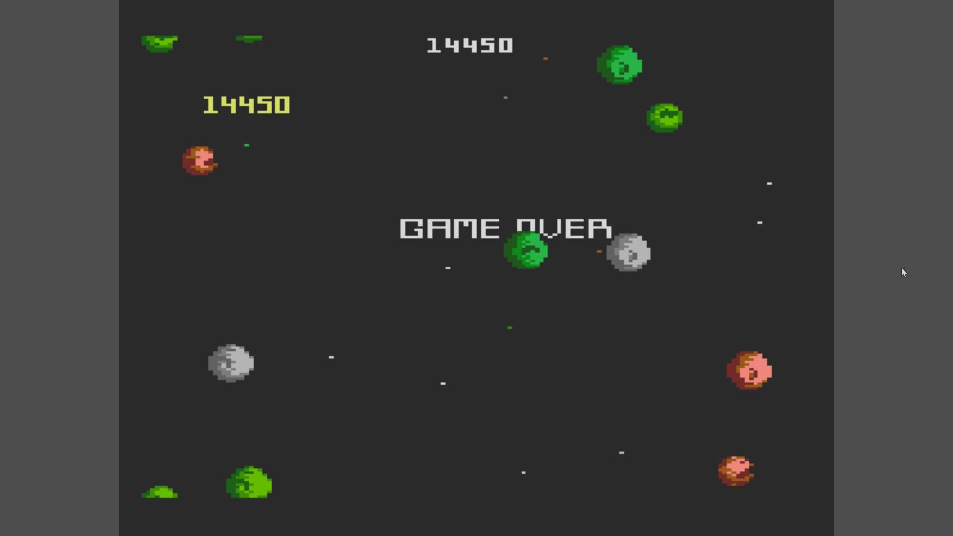 AkinNahtanoj: Asteroids: Intermediate (Atari 7800 Emulated) 14,450 points on 2020-10-09 06:28:05