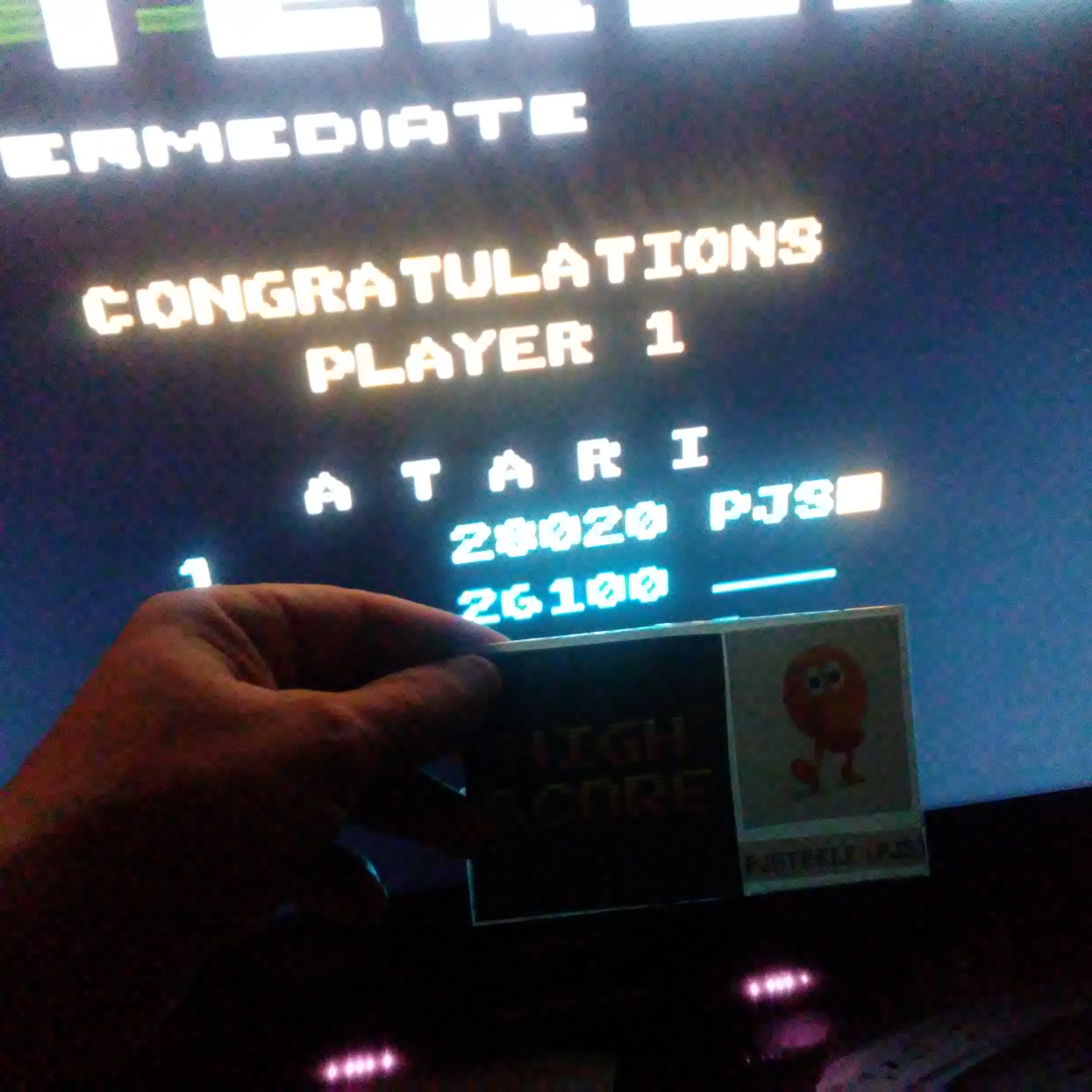 Pjsteele: Asteroids: Intermediate (Atari 7800 Emulated) 28,020 points on 2017-05-20 22:06:02