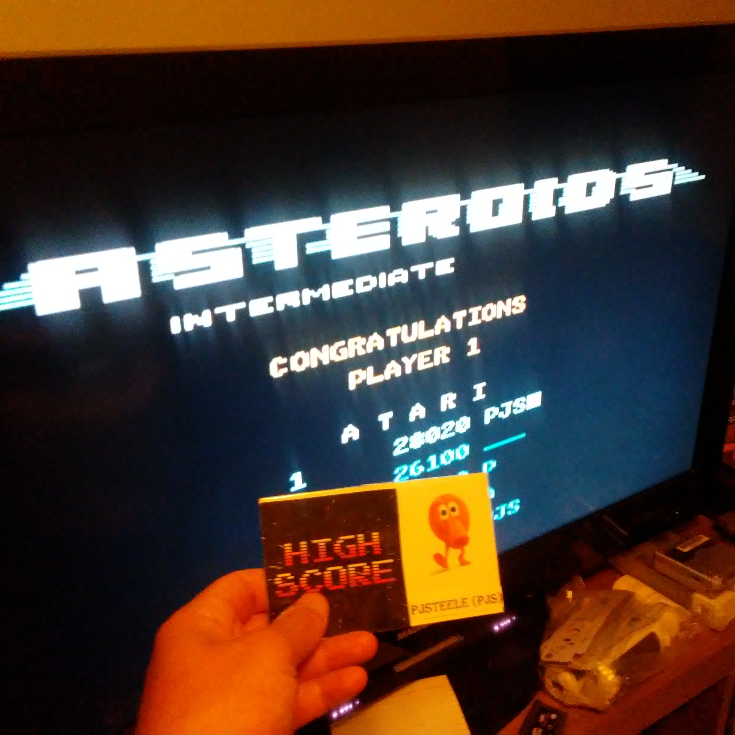 Asteroids: Intermediate 28,020 points