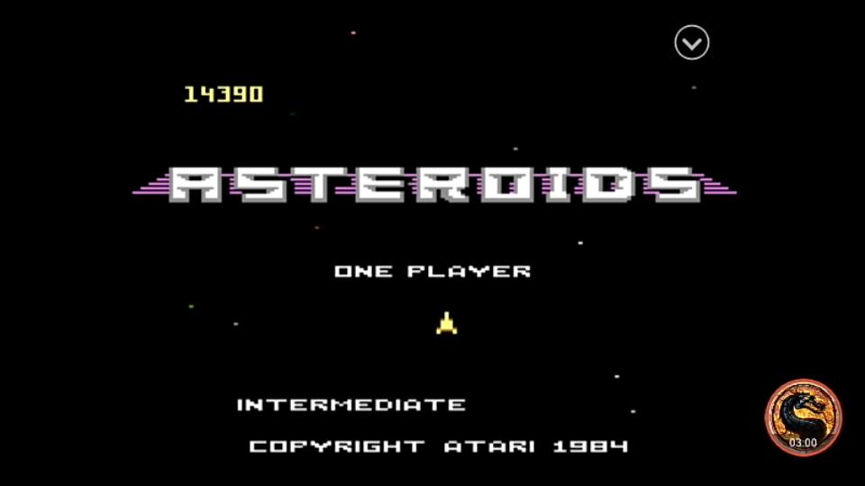 omargeddon: Asteroids: Intermediate (Atari 7800 Emulated) 14,390 points on 2019-08-16 13:28:25