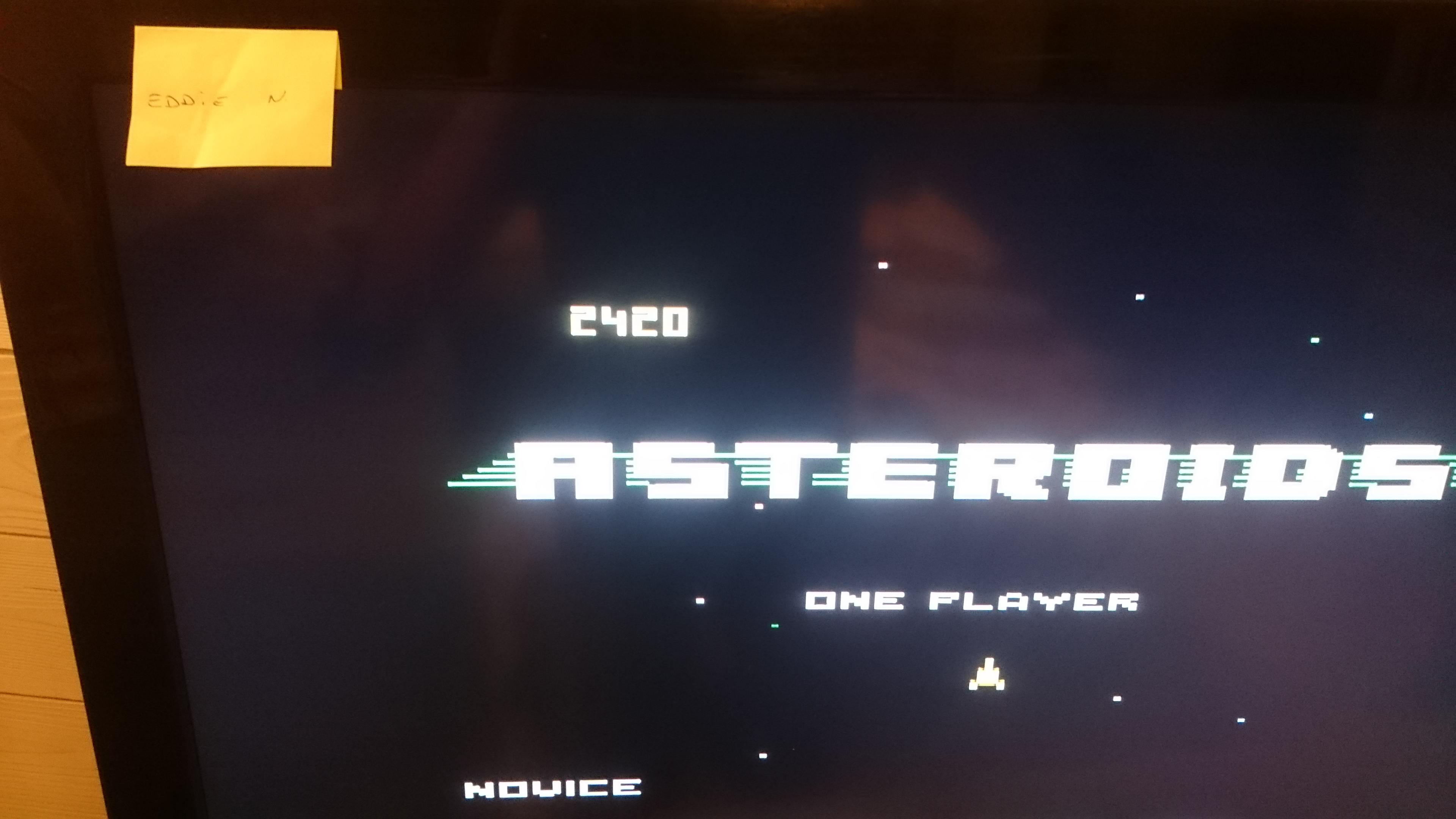 EddieNiceguy: Asteroids: Novice (Atari 7800 Emulated) 2,420 points on 2017-11-16 16:08:48