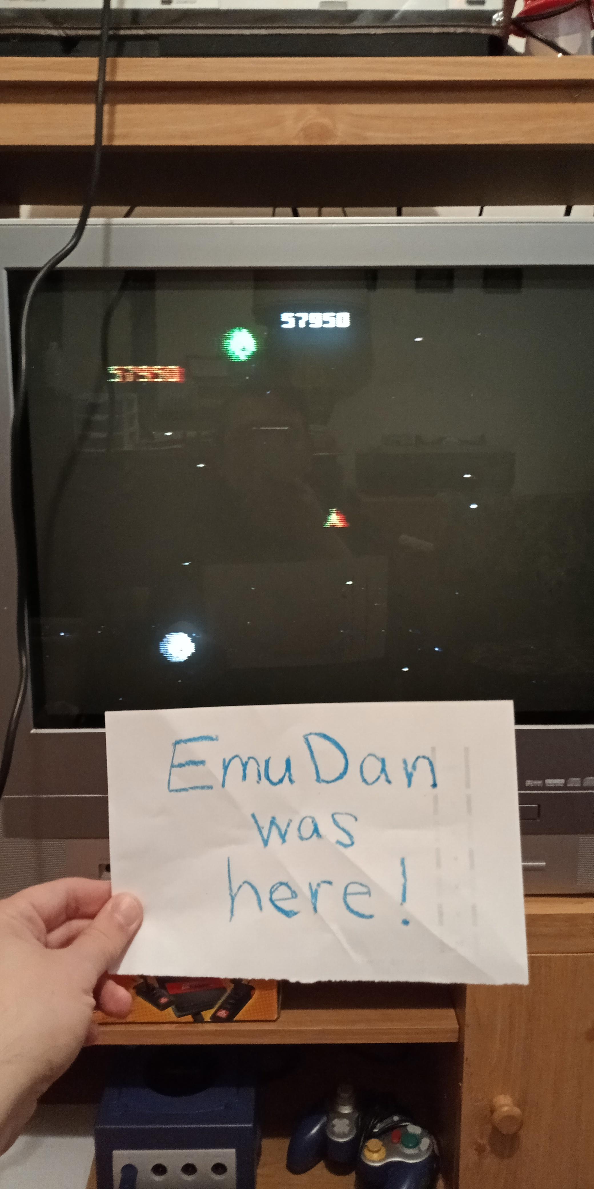 EmuDan: Asteroids: Novice (Atari 7800) 57,950 points on 2019-04-22 09:22:16