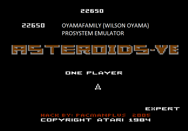 oyamafamily: Asteroids-VE: Expert (Atari 7800 Emulated) 22,650 points on 2016-03-02 20:21:06