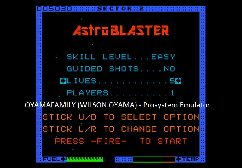 oyamafamily: Astro Blaster [Easy/5 Lives] (Atari 7800 Emulated) 5,030 points on 2016-07-25 18:41:34