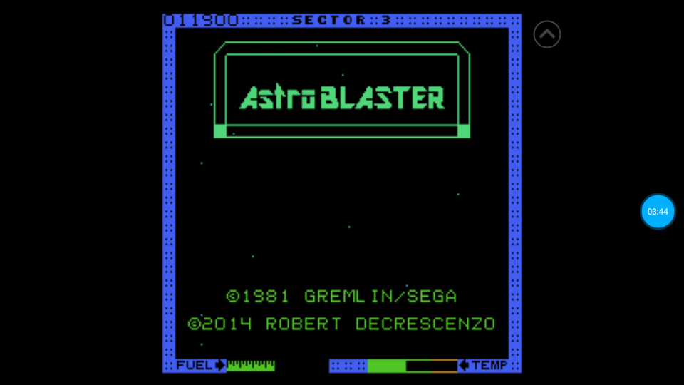 omargeddon: Astro Blaster [Easy/5 Lives] (Atari 7800 Emulated) 11,900 points on 2018-07-08 17:48:14