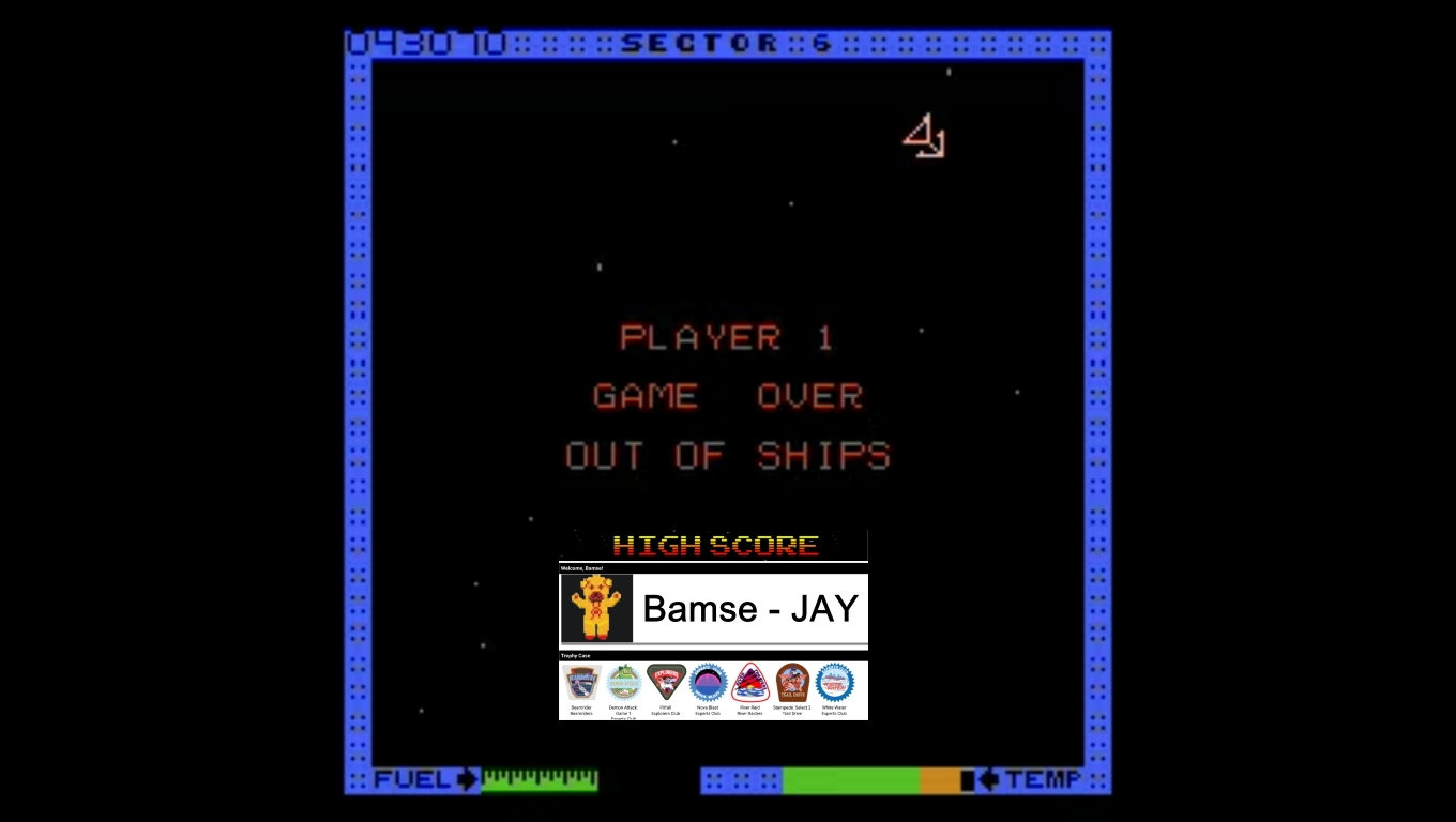 Bamse: Astro Blaster [Easy/5 Lives] (Atari 7800 Emulated) 43,070 points on 2019-12-30 17:02:42