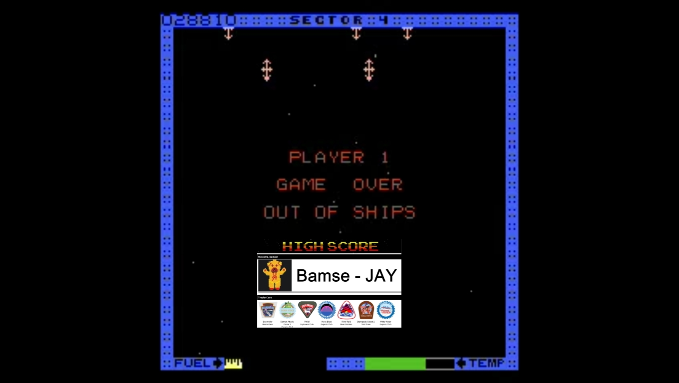 Bamse: Astro Blaster [Hard/5 Lives] (Atari 7800 Emulated) 28,810 points on 2019-12-30 17:05:48