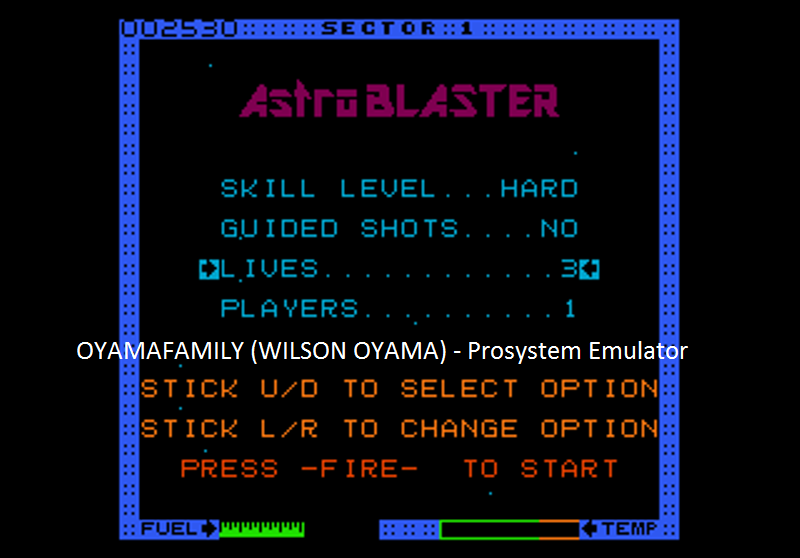 oyamafamily: Astro Blaster [Hard] (Atari 7800 Emulated) 2,530 points on 2016-07-25 18:43:51