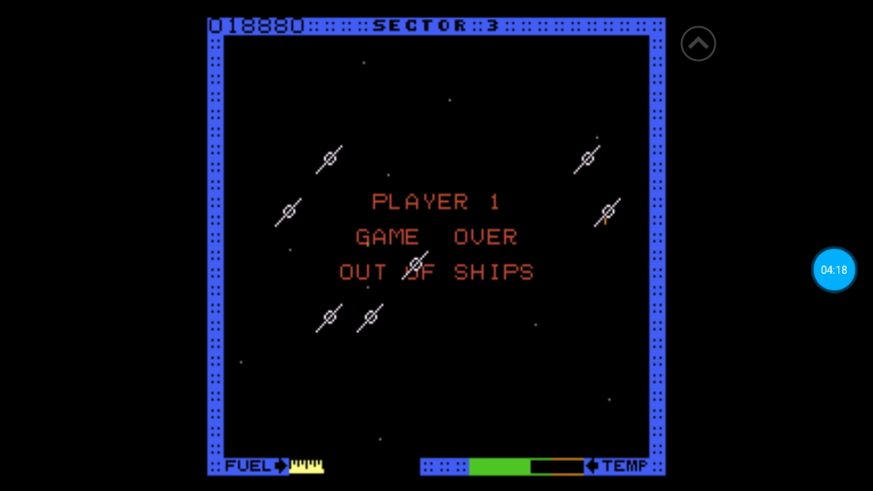 omargeddon: Astro Blaster [Hard] (Atari 7800 Emulated) 18,880 points on 2018-07-08 17:50:16