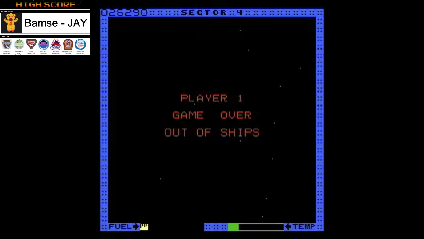 Bamse: Astro Blaster [Hard] (Atari 7800 Emulated) 26,290 points on 2019-12-18 16:08:01