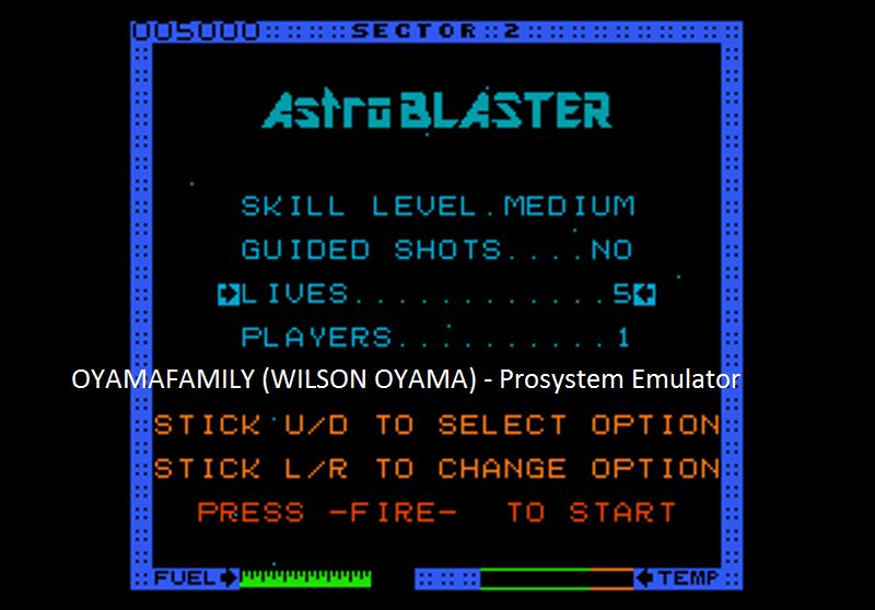 oyamafamily: Astro Blaster [Medium/5 Lives] (Atari 7800 Emulated) 5,000 points on 2016-07-25 18:42:38