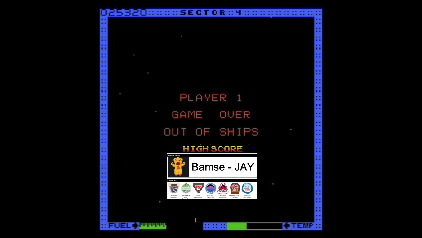 Bamse: Astro Blaster [Medium/5 Lives] (Atari 7800 Emulated) 25,320 points on 2019-12-30 17:04:01