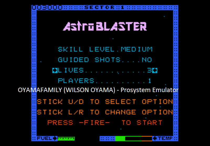 oyamafamily: Astro Blaster [Medium] (Atari 7800 Emulated) 3,000 points on 2016-07-25 18:42:09