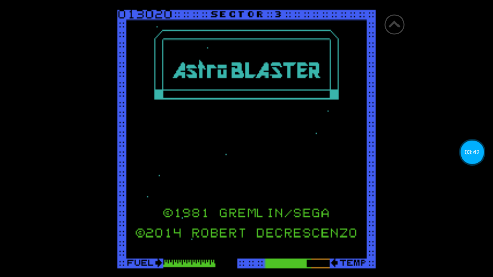 omargeddon: Astro Blaster [Medium] (Atari 7800 Emulated) 13,020 points on 2018-07-08 17:49:36