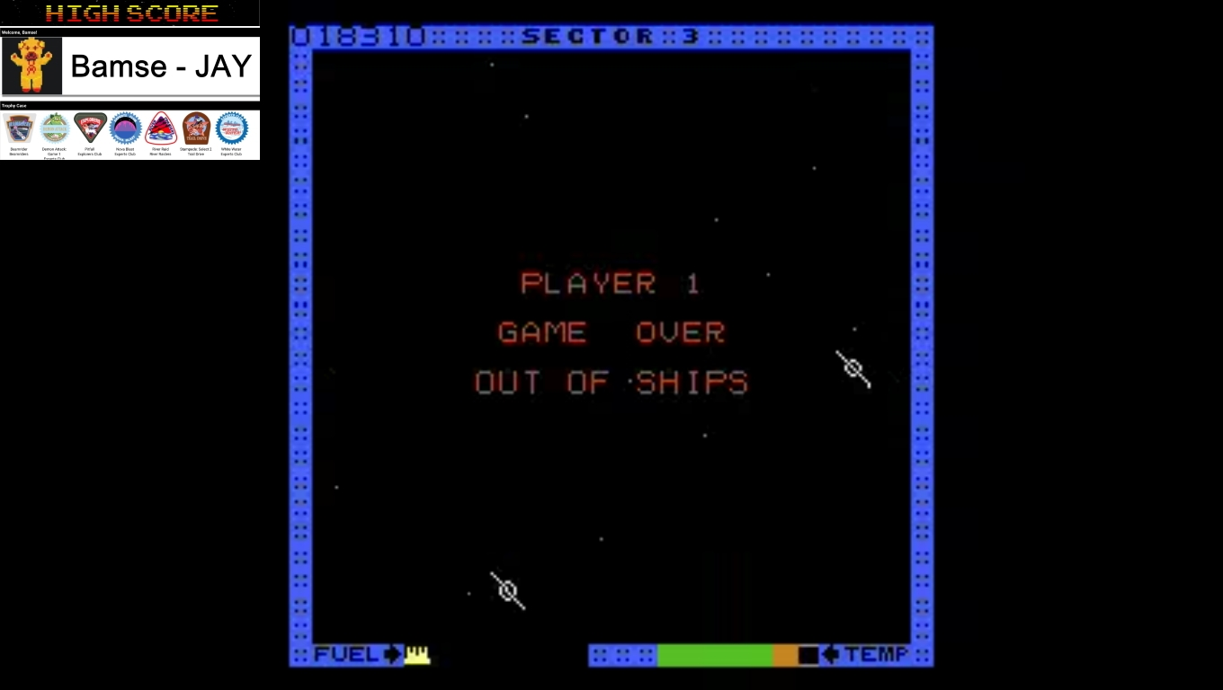 Bamse: Astro Blaster [Medium] (Atari 7800 Emulated) 18,310 points on 2019-12-18 16:06:55