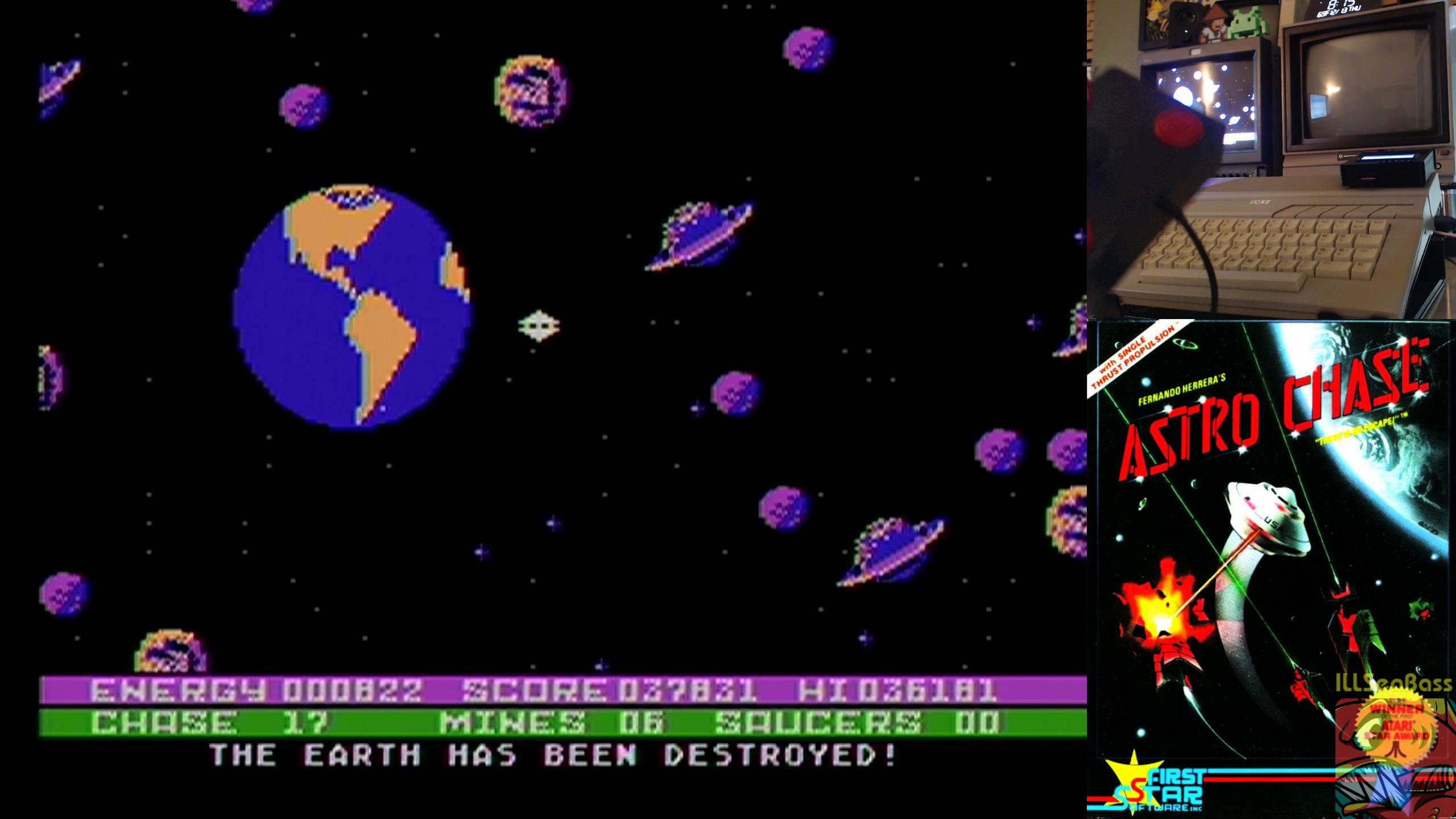 ILLSeaBass: Astro Chase (Atari 400/800/XL/XE) 37,831 points on 2018-12-13 21:18:40