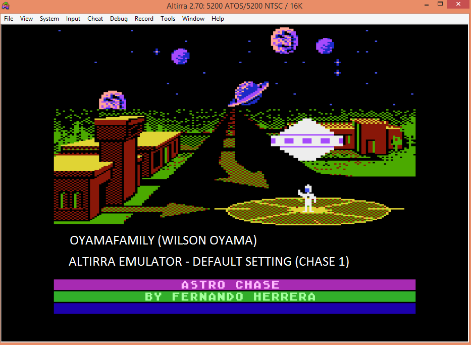 oyamafamily: Astro Chase (Atari 5200 Emulated) 5,050 points on 2016-04-23 19:27:30