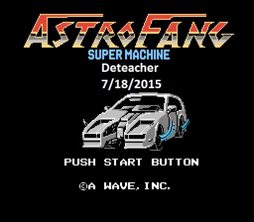 Deteacher: Astro Fang: Super Machine (NES/Famicom Emulated) 6,727 points on 2015-07-18 07:49:32