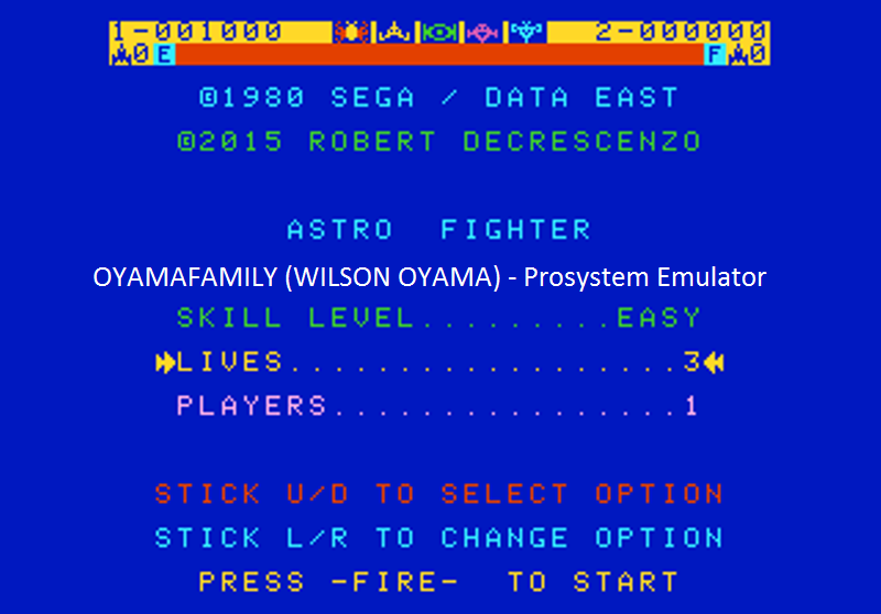 oyamafamily: Astro Fighter [Easy / 3 Lives] (Atari 7800 Emulated) 1,000 points on 2016-07-25 18:51:14