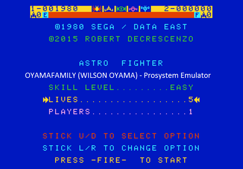 oyamafamily: Astro Fighter [Easy / 5 Lives] (Atari 7800 Emulated) 1,980 points on 2016-07-25 18:51:44