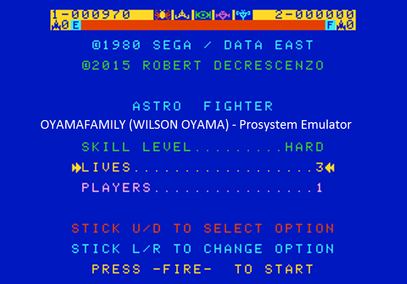 oyamafamily: Astro Fighter [Hard / 3 Lives] (Atari 7800 Emulated) 970 points on 2016-07-25 18:52:19