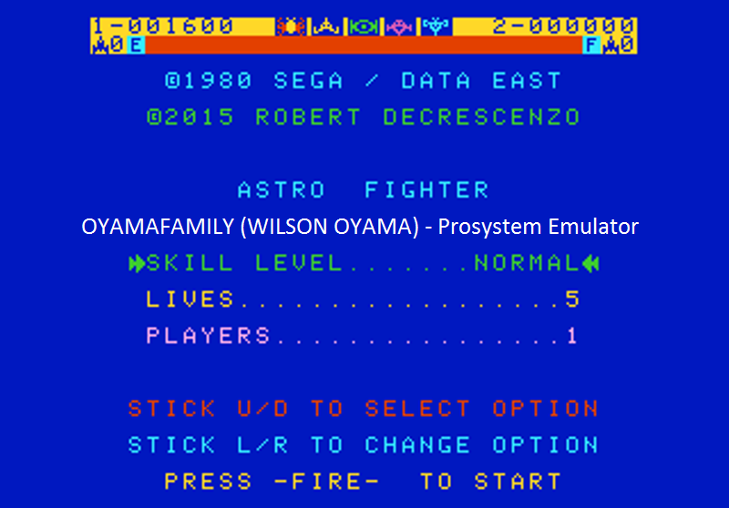 oyamafamily: Astro Fighter [Normal / 5 Lives] (Atari 7800 Emulated) 1,600 points on 2016-07-25 18:53:15