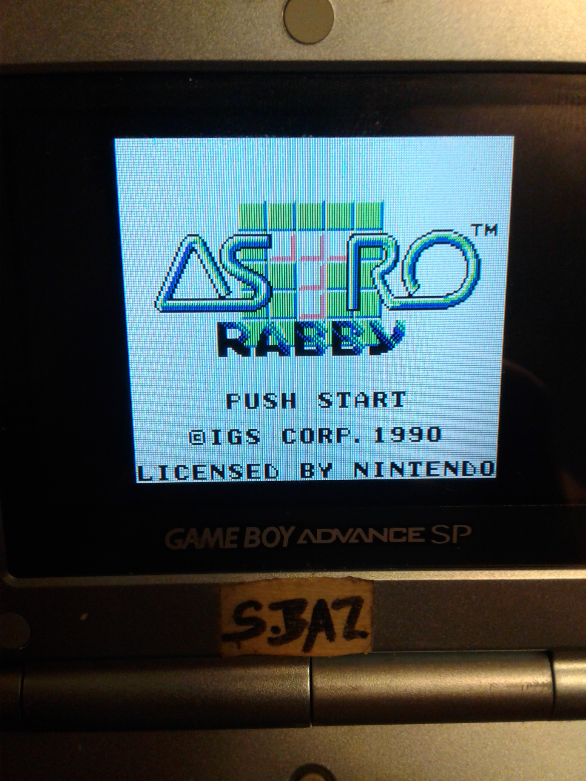 S.BAZ: Astro Rabby (Game Boy) 3,300 points on 2020-08-03 14:13:33