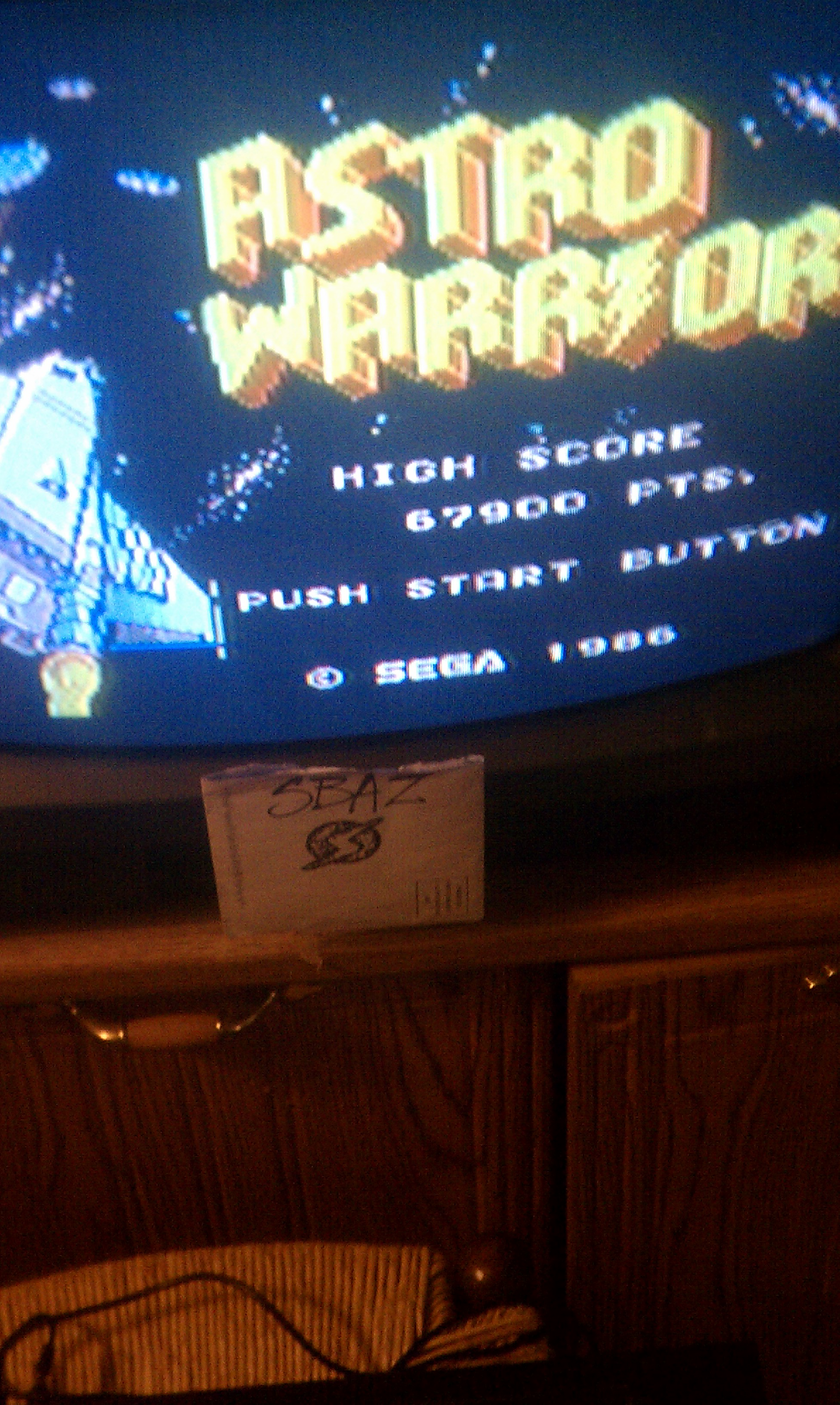 S.BAZ: Astro Warrior (Sega Master System) 67,900 points on 2016-04-05 17:15:36