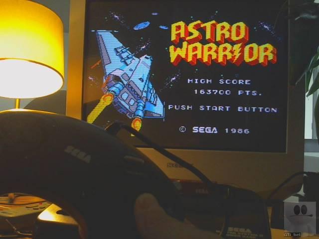 GTibel: Astro Warrior (Sega Master System) 163,700 points on 2019-10-01 08:39:17