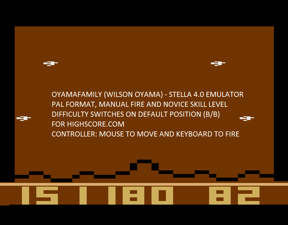 oyamafamily: Astroblast (Atari 2600 Emulated Novice/B Mode) 151,180 points on 2015-10-11 05:44:56