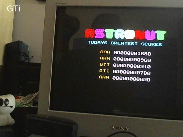GTibel: Astronut [Start Level: A] (ZX Spectrum) 910 points on 2017-06-12 11:49:26