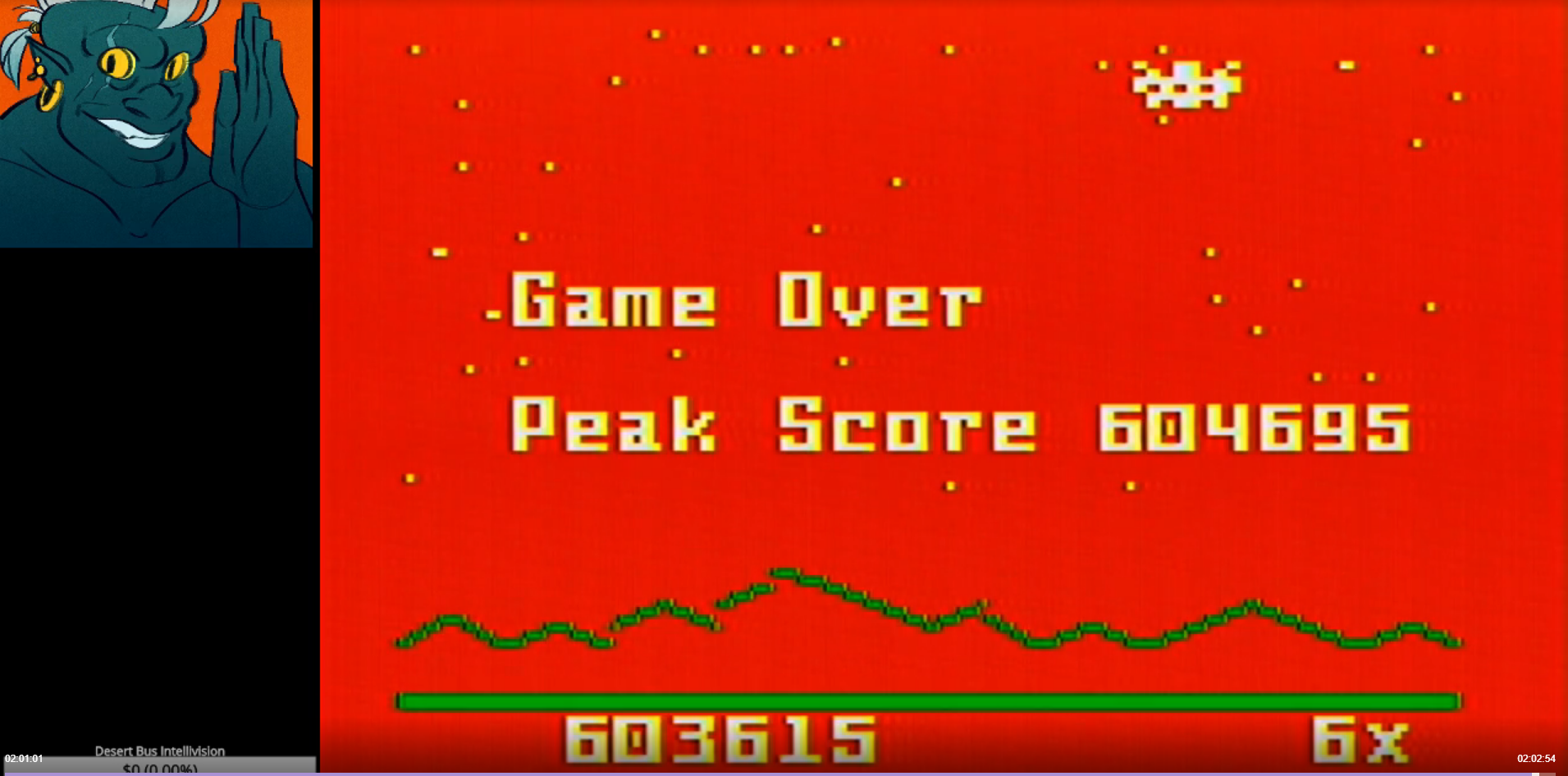 AwesomeOgre: Astrosmash [Final Score] (Intellivision) 603,615 points on 2019-02-14 01:44:24