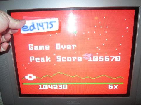 ed1475: Astrosmash [Peak Score] (Intellivision) 105,670 points on 2018-09-27 13:33:03
