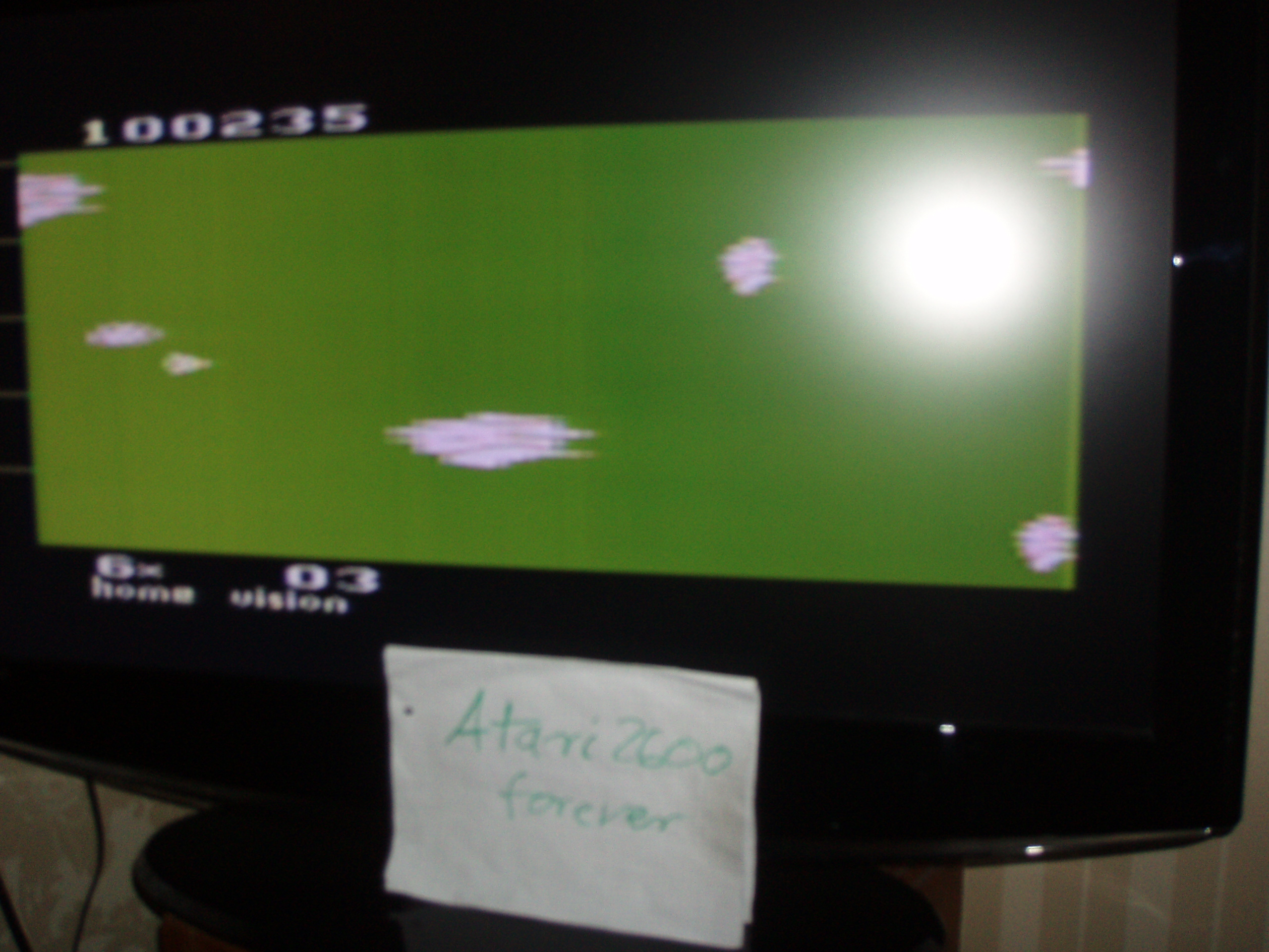 atari2600forever: Astrowar / Meteor Defense / Kampf im Asteroiden-Gürtel (Atari 2600 Novice/B) 100,235 points on 2017-05-12 03:37:46