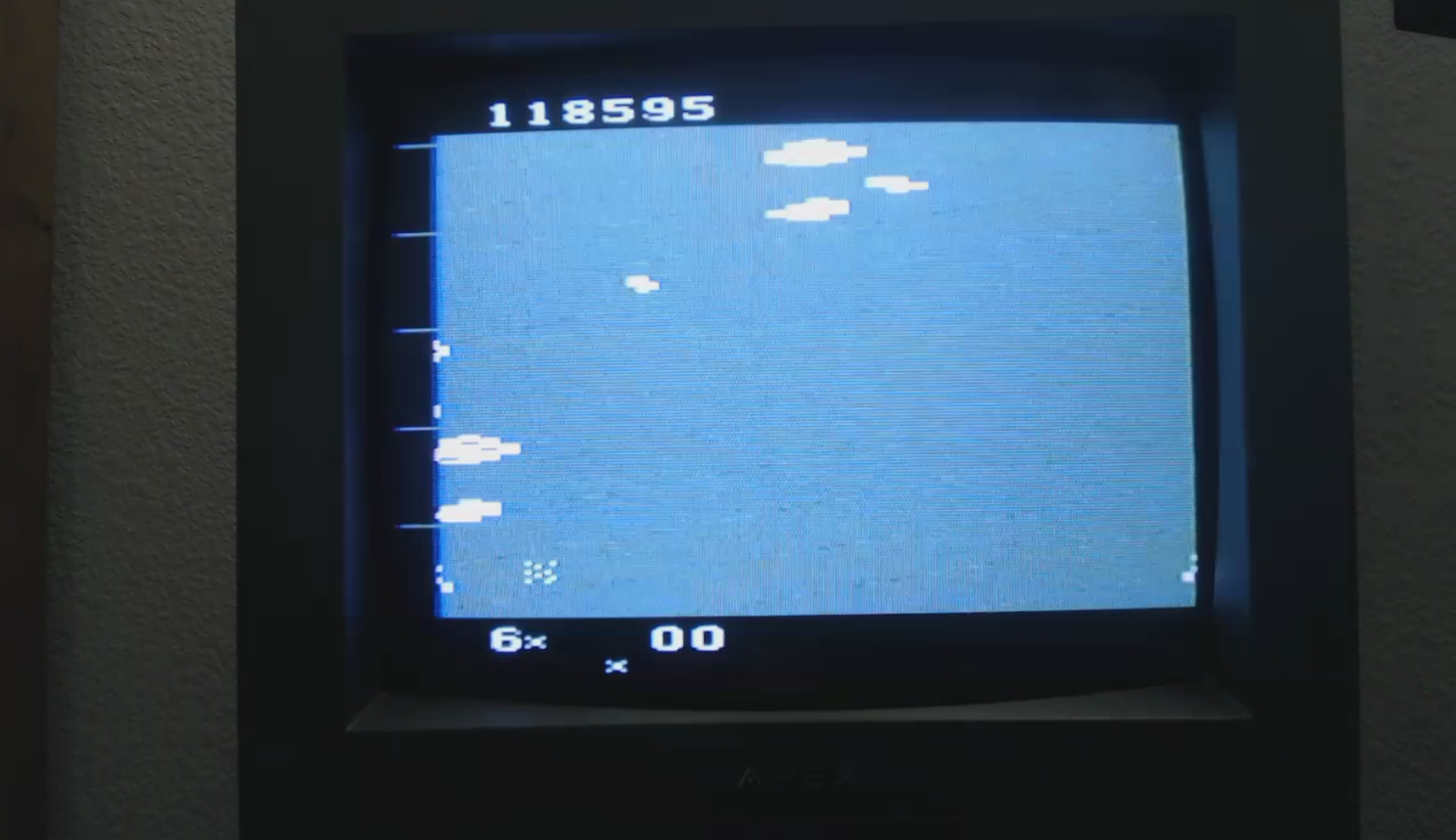 OriginalGamer: Astrowar / Meteor Defense / Kampf im Asteroiden-Gürtel (Atari 2600 Novice/B) 118,595 points on 2018-01-07 03:54:22