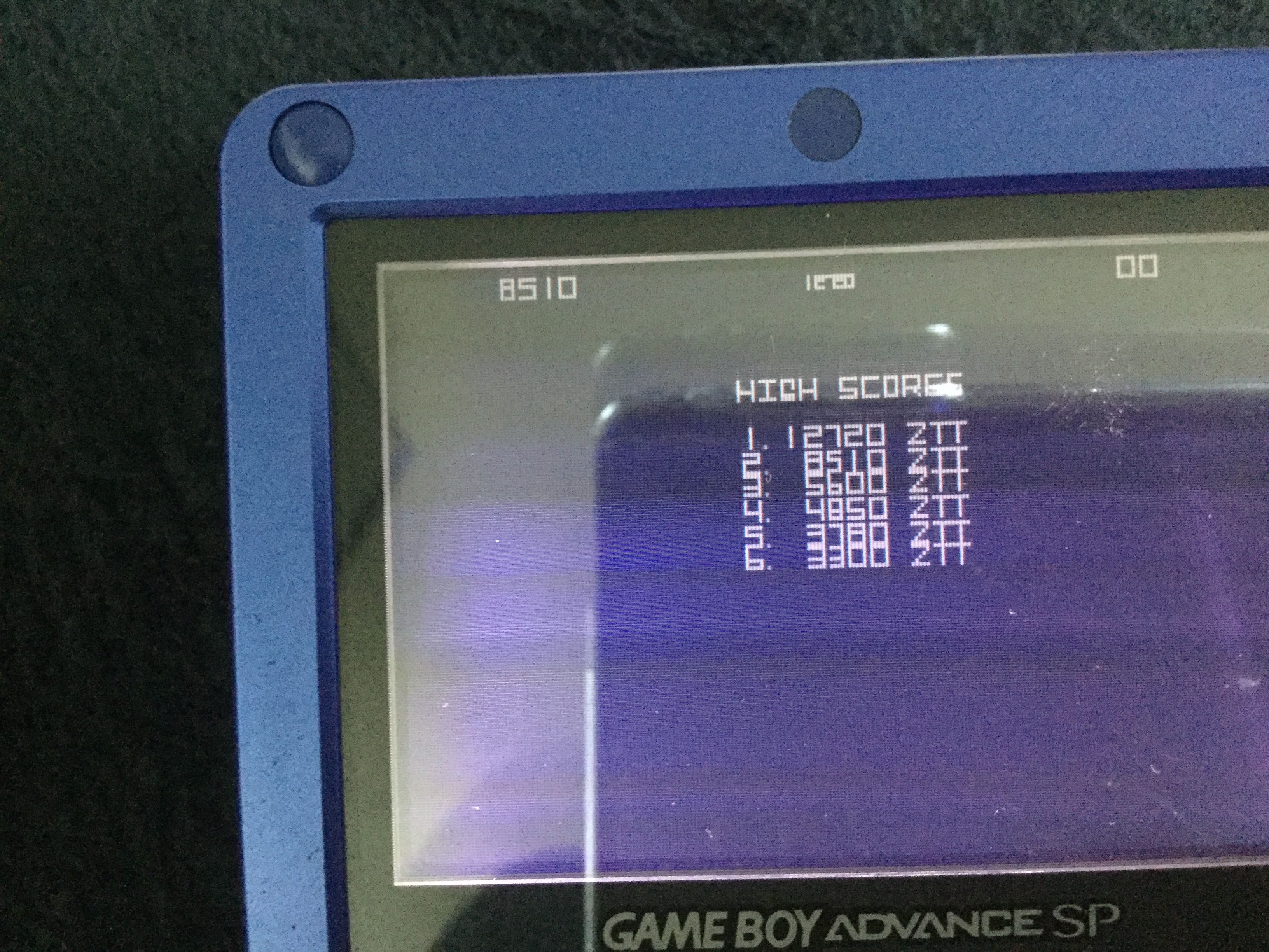 Frankie: Atari Anniversary Advance: Asteroids (GBA) 12,720 points on 2018-05-12 13:33:32