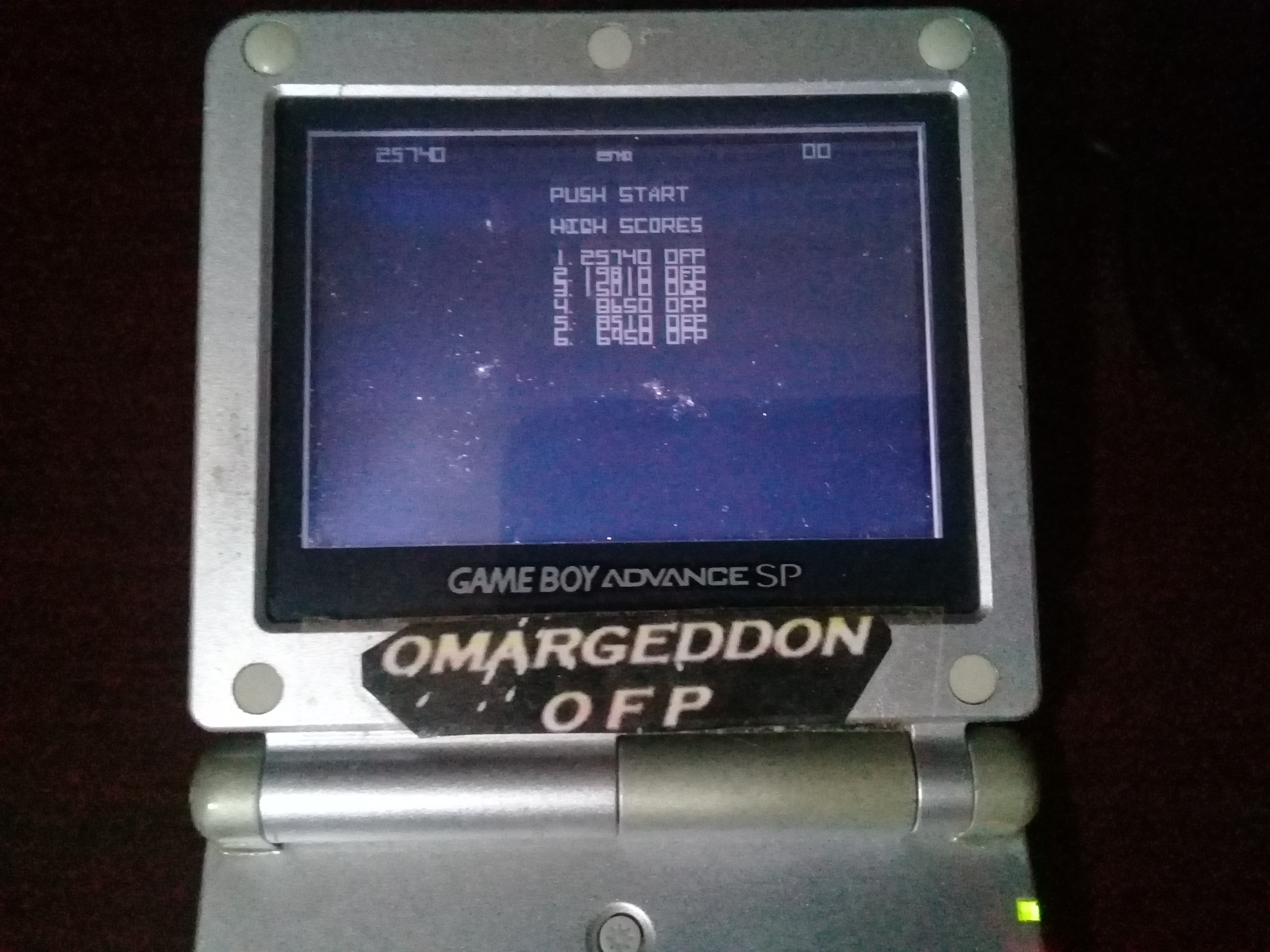 omargeddon: Atari Anniversary Advance: Asteroids (GBA) 25,740 points on 2020-06-24 01:17:26