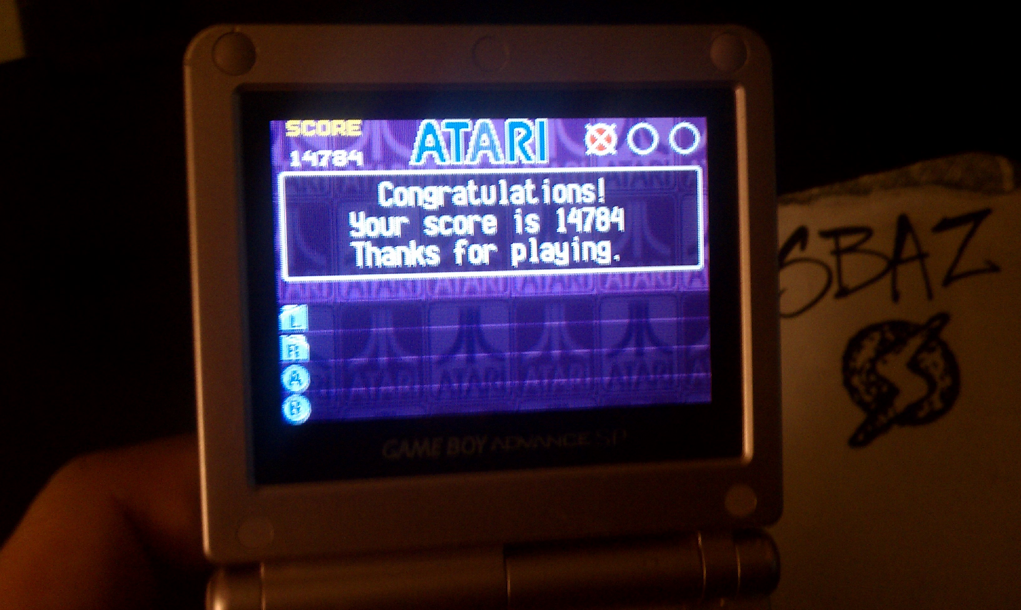 S.BAZ: Atari Anniversary Advance: Atari Trivia Challenge (GBA) 14,784 points on 2018-05-17 04:50:31