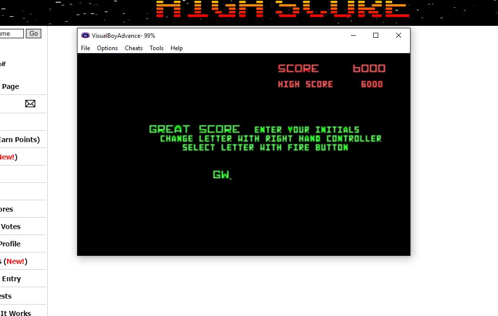 Atari Anniversary Advance: Battlezone 6,000 points