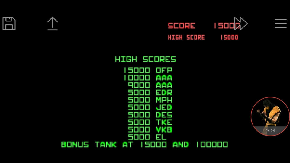 omargeddon: Atari Anniversary Advance: Battlezone (GBA Emulated) 15,000 points on 2017-12-27 10:22:06