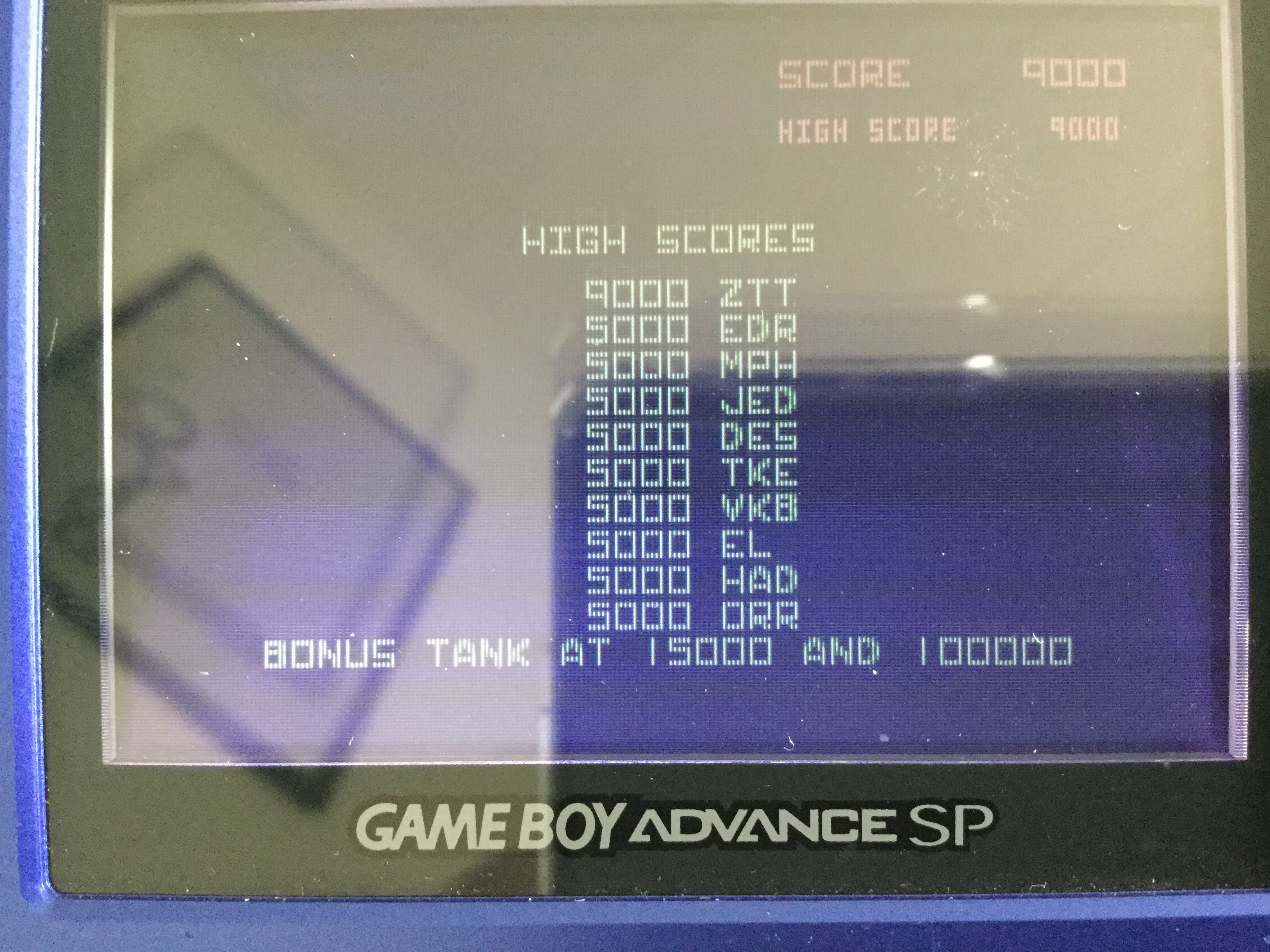 Frankie: Atari Anniversary Advance: Battlezone (GBA) 9,000 points on 2018-05-01 02:00:22