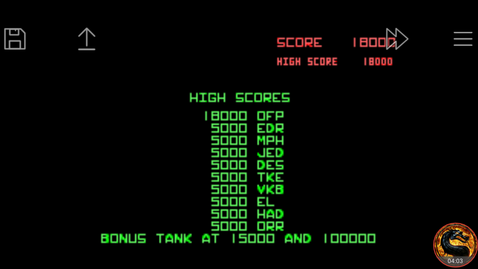 omargeddon: Atari Anniversary Advance: Battlezone (GBA Emulated) 18,000 points on 2018-10-05 08:56:02