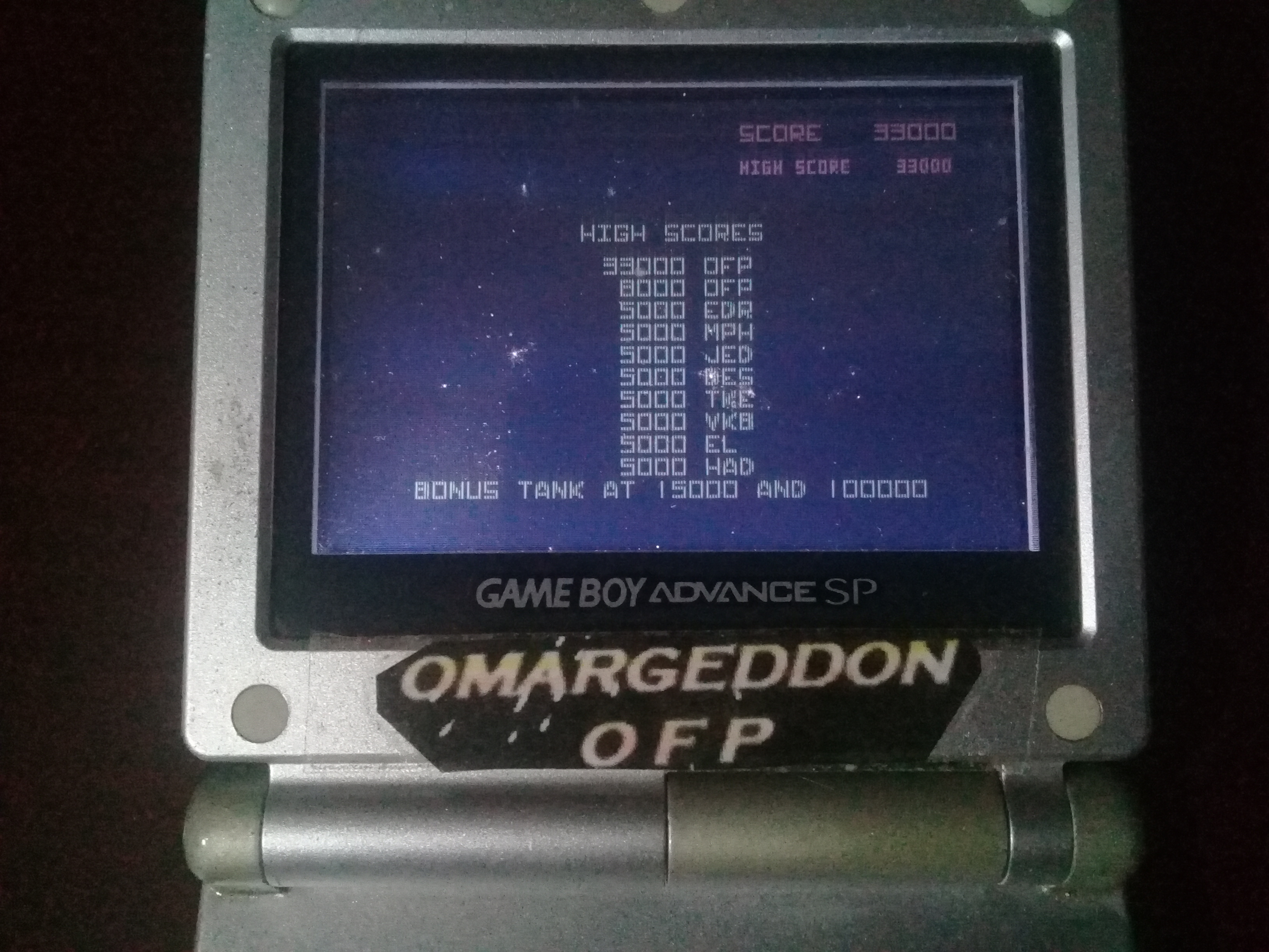 omargeddon: Atari Anniversary Advance: Battlezone (GBA) 33,000 points on 2020-04-19 01:21:57