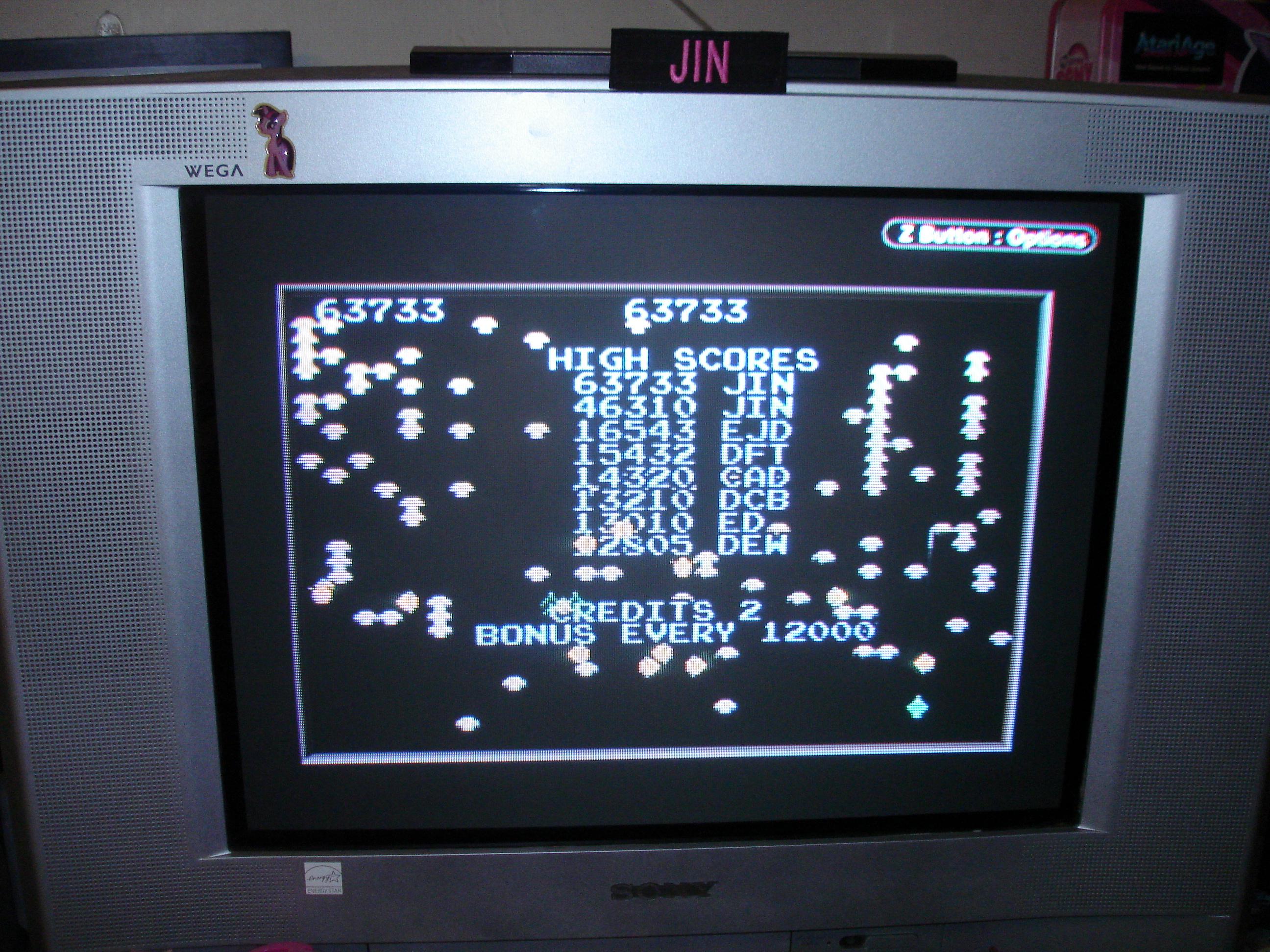 Atari Anniversary Advance: Centipede 63,733 points